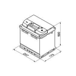 Autobaterie BOSCH Silver S5 002, 54Ah, 12V, 530A, 0 092 S50 020 - 2