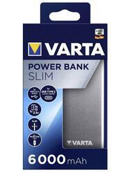 PowerBanka Varta Portable Slim, 6000mAh, Li-Pol, stříbrná, 57965 - 2