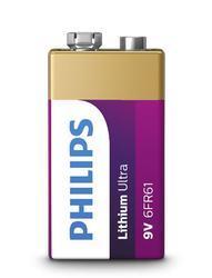 Baterie Philips 6FR61LB1A/10, 9V, Lithium Ultra, (Blistr 1ks) - 2