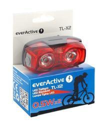 EverActive TL-X2 zadní světlo na kolo 1 LED, 2 LED, blikající, vodotěsné, 2x AAA - 2