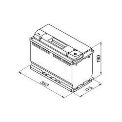 Autobaterie Banner POWER BULL PROfessional P100 40, 100Ah, 12V, 800A (P10040) - 2