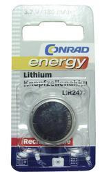 Knoflíkový akumulátor LIR2477, 3,6V, Li-Ion, nabíjecí, (Blistr 1ks) - 2