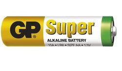 Baterie GP Super Alkaline, 15A, LR6, AA, (Blistr 4ks) - 2
