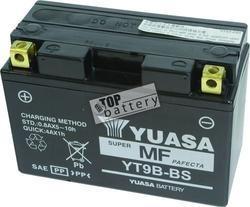 Motobaterie YUASA YT9B-BS, 12V, 8Ah - 2