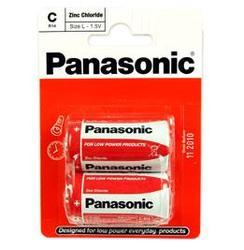 Baterie Panasonic zinco-carbon, R14RZ, C, (Blistr 2ks) - 2