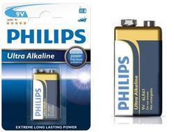 Baterie Philips Ultra Alkaline 6LR61, 9V (Blistr 1ks) - 2