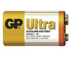 Baterie GP 1604AU Ultra Alkaline, 9V, (Blistr 1ks) - 2
