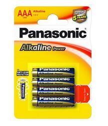 Baterie Panasonic Alkaline Power AAA, LR03, (Blistr 4ks) - 5