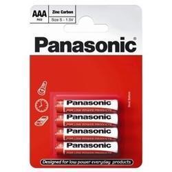 Baterie Panasonic zinco-carbon, R03RZ, AAA, (Blistr 4ks) - 5