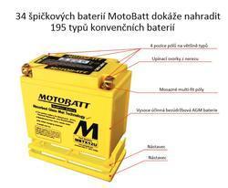 Motobaterie Motobatt MBTX12U, 12V, 14Ah, 200A (YTX12-BS, YTX14H-BS, AGM12-10) - 6