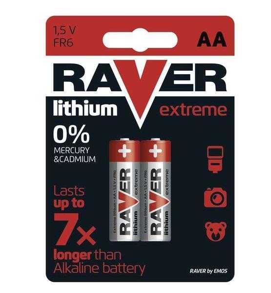 cd78ffd2a Baterie RAVER FR6, Lithium, AA, (Blistr 2ks) - Topbattery.cz