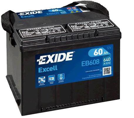 autobaterie exide excell 12v 60ah 640a us eb608. Black Bedroom Furniture Sets. Home Design Ideas